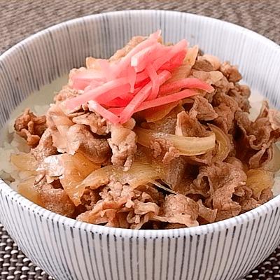 味つけ簡単 めんつゆ牛丼