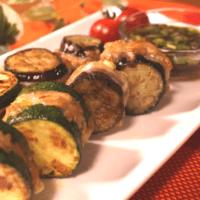 ズッキーニと茄子のはさみ焼き