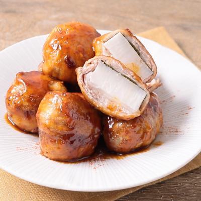 もちっと辛旨 長芋の豚肉巻きの照り炒め
