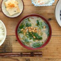 にら納豆の味噌汁