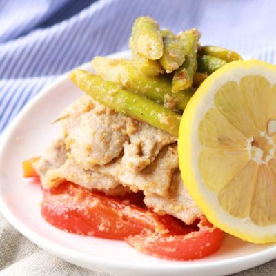 豚ロースと彩り野菜のレモン塩炒め