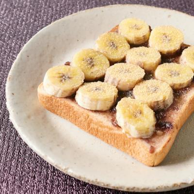 バター香る バナナあんこトースト