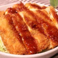 高野豆腐でソースかつ丼