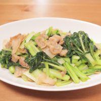ターサイと豚バラ肉の炒め物