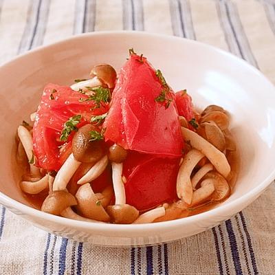 トマトとしめじの焼きマリネ