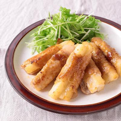 長芋の豚肉巻き ゆず胡椒炒め
