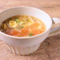 あさりとトマトの酸辣湯