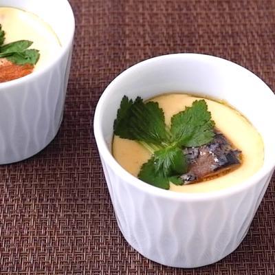 サバの味噌煮缶を使った 茶碗蒸し
