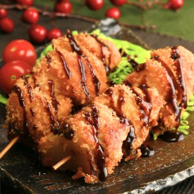 豚肉と玉ねぎの串揚げ