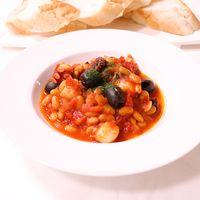 煮込んで簡単!水煮大豆とタコのトマト煮
