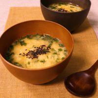ピリ辛 ニラたまスープ