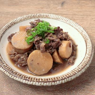 京芋と牛肉のさっと煮