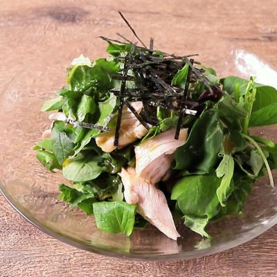 わさび香る 鶏ささみのグリーンサラダ
