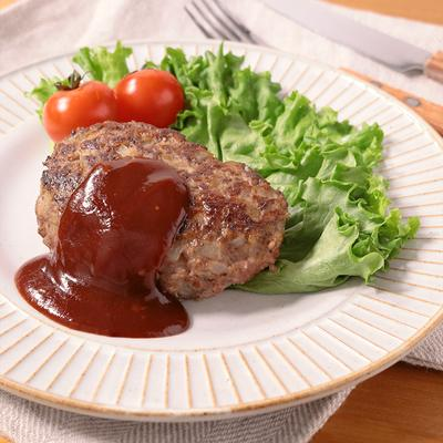 手作り挽き肉で ジューシービーフハンバーグ