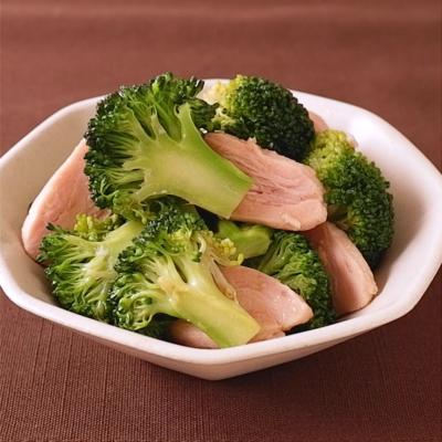 サラダチキンとブロッコリーの中華和え