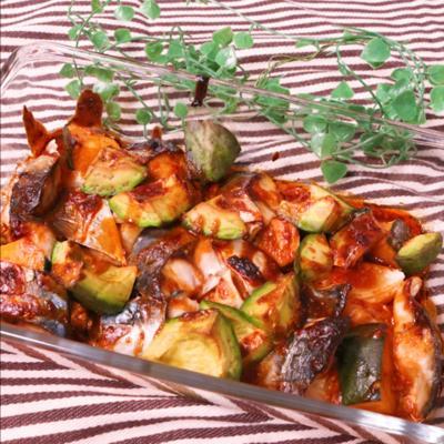 韓国風?!鯖と野菜のコチュジャン焼き