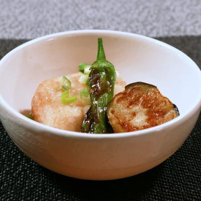 サクサク麩入り衣で揚げ出し豆腐