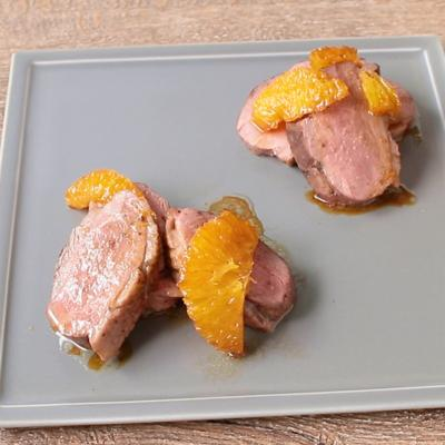 鴨のロースト オレンジソース添え