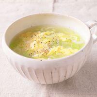 長ねぎと新生姜のたまごスープ