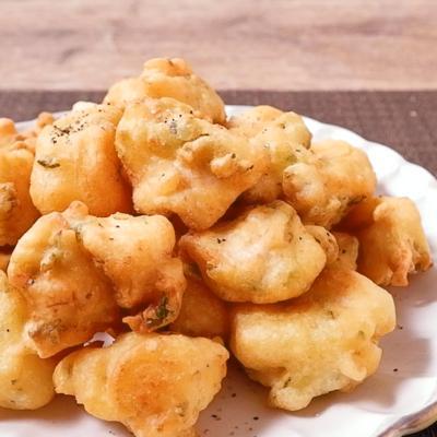 天ぷら粉で簡単に ササミと大葉のフリッター