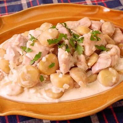栗と鶏モモ肉のクリーム煮