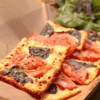 見た目華やか!ピザ風チーズ焼き
