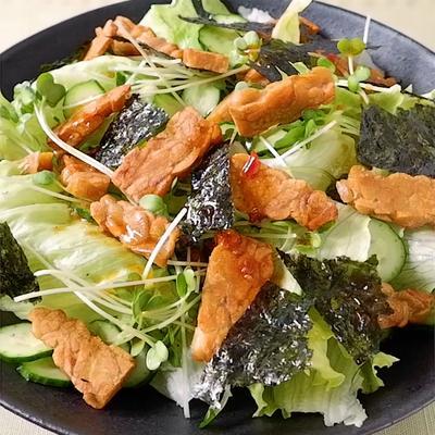 テンペのピリ辛サラダ