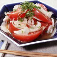 新玉ねぎとトマトの和風マリネ