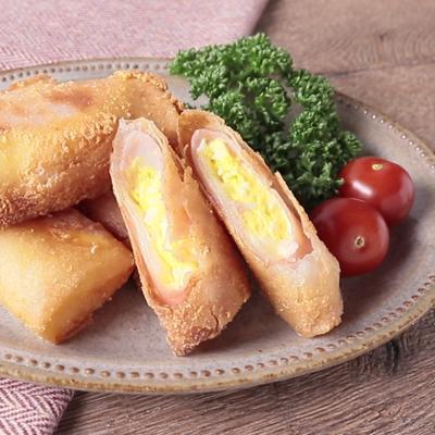 ハムチーズたまごの春巻き