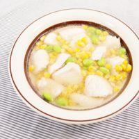 あっさり 鶏むね肉とコーンのスープ煮