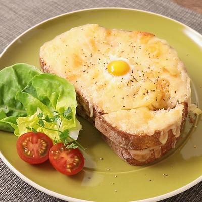 チーズとホワイトソースでクロックマダム
