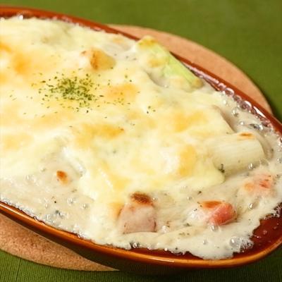 ブルーチーズで風味豊か どっさり長ねぎグラタン