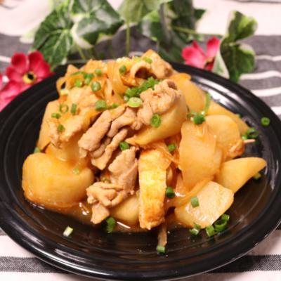 ごはんがすすむ!冷凍大根と豚のピリ辛味噌煮