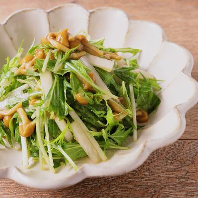 大根と水菜の簡単なめこ和え