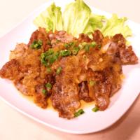 カリカリ豚バラ肉の香味ソース