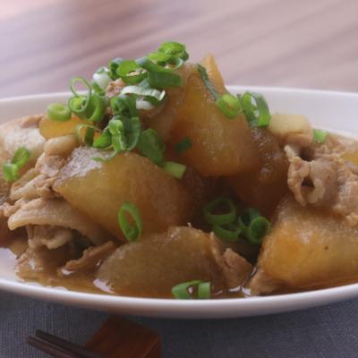 冬瓜と豚バラの甘辛簡単炒め煮
