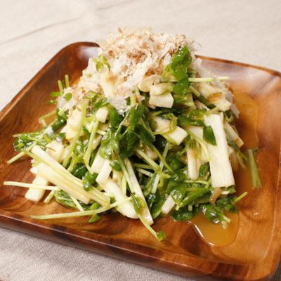 豆苗と長芋のサッパリ梅ドレサラダ