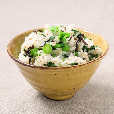 菜の花と塩昆布の混ぜご飯
