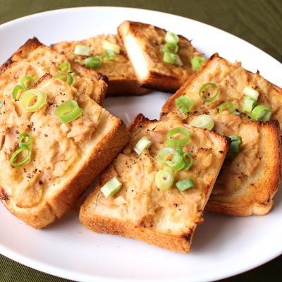食パンで ツナみそトースト