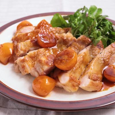 鶏もも肉の金柑ソース