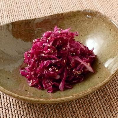 紫キャベツのナムル
