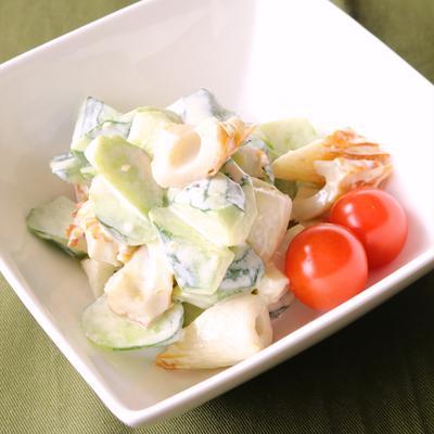 きゅうりとちくわのゆず胡椒サラダ