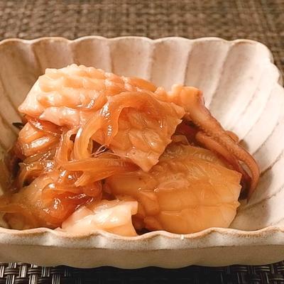 イカと玉ねぎのしょうゆ炒め