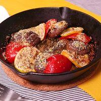 サッパリ食べやすい!椎茸とパプリカのオーブン焼き