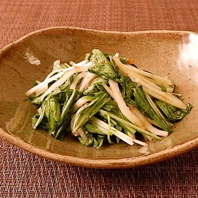 大根と水菜の梅味噌あえ