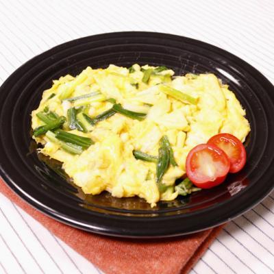 山菜を味わう!行者にんにくの卵焼き