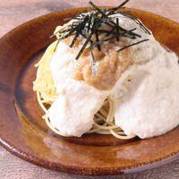 豆腐ととろろのふわとろ和風パスタ