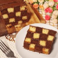 切ったらサプライズ!格子柄のミニパウンドケーキ