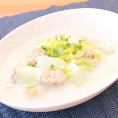 白菜と鶏肉の中華風クリーム煮
