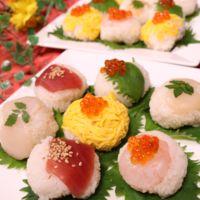 彩り華やか!5種の手まり寿司